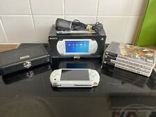 SONY PSP-1003 WHITE PORTABLE HANDHELD GAME CONSOLE BOXED & GAMES