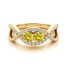 1.28 Carat Yellow VS2-SI1 Diamond Solitaire Engagement Ring 14k Yellow Gold