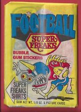 1974 Donruss Football Super Freaks Sealed Unopened Wax Pack