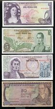 COLOMBIA 1973/77 2p - 50p BANKNOTES