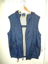 VTG 90s Men's GAP Hooded Sleeveless Windbreaker Jacket Vest Navy SIZE L