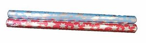 Gift Wrap Wrapping Paper 8 X Blue With Silver Stars 4 x Pink with silver Stars