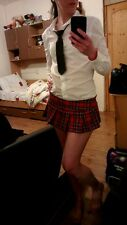 Super sexy jupe écossaise taille moyenne-school girl-cosplay-adulte UK12-14