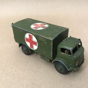 Vintage Dinky Meccano Toys Die Cast Vehicle - Military WW2 Ambulance Truck 626