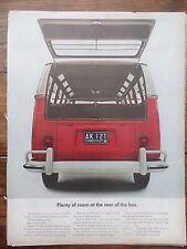 Lot of 6 Vintage VW Volkswagen Bus Microbus Van Camper Ad Advertisement Life