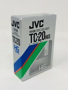 JVC TC-20 Dyarek Super HG VHS-C Video Cassette Tape - Brand New Sealed TT20