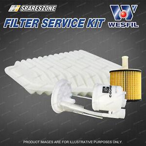Wesfil Oil Air Fuel Filter Service Kit for Toyota Aurion GSV40R 3.5L V6 06-12