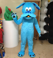 2018 Unisex Blue Dog Mascot Costume Husky Professional Animal Party Suits Fox