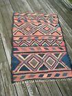 "Flat weave tribal nomad older 56"" X 39"" wool rug"