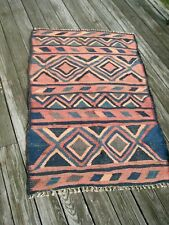 "Flat weave tribal nomad older 56"" X 39"" wool rug"