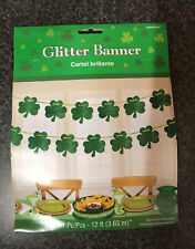 Shamrock Design Party Banner St Patricks Day Banners Garlands Party Decorations