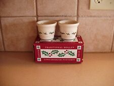 Longaberger Traditional Holly & Berry Votive Candle Holder Set Nib Usa Free Ship