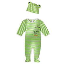 SCHIESSER Baby Anzug 2tlg mit Mütze 100% CO Gr 62 68 74 80 86 92 Strampler NEU