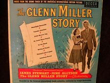 "Vintage THE GLENN MILLER STORY James Stewart 10"" LP 1954 Decca Records DL 5519"