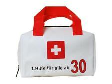 Tasche Polyester WEISS bedruckt mit 1.hilfe für alle ab 30 19x11cm