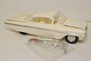 Vintage Built Model Car 1/25 1959 Chevrolet Impala 2Dr Hardtop Junkyard Parts