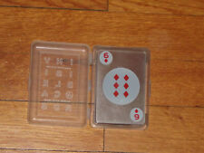 Invisible Clear Plastic Playing Cards w Case Kikkerland Peter Woudt Complete Exc