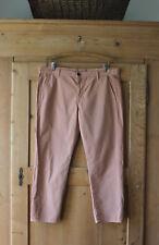J Brand~Avery #1227 Mid Rise Cropped Pants/Capri, Brick w/Tuxedo Stripe 32, NWOT