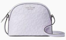Kate Spade Hollie X-Large Dome Crossbody Lavander Embossed Leather WKRU6770 NWT