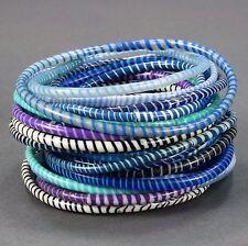 12 Flip Flop bangle bracelets! A handmade product from women in Mali, W. Africa.