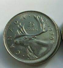 Canada 1970 25 cents Nice AU- UNC - Low Mintage  Canadian Quarter