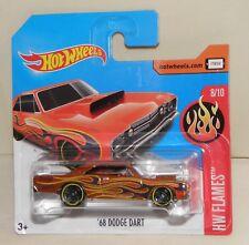'68 DODGE DART orange dunkelorange Flammen Hot Wheels Modell HW FLAMES 2017  NEU