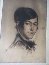 Edgar Chahine 1874-1947-Gravure originale-Eau-forte-Mlle Souty-signée-etching