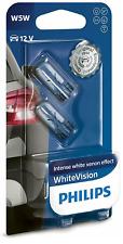 12V 5W PHILIPS SIDE LIGHT BULBS FOR Nissan 350 Z WHITEVISION 501's FRONT