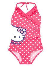 BNWT M&S Hello Kitty Pink Spot Swimming Costume Swimsuit 3-4 Years
