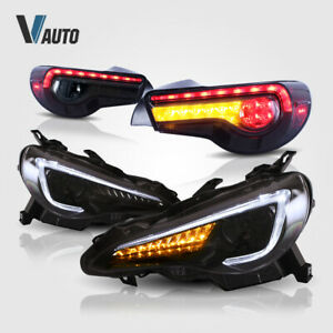 VLAND 2* Headlights 2* Smoked Tail Lights For Toyota 86 / Scion FRS / Subaru BRZ