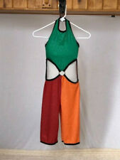 "Green, Red, Orange Youth & Adult ""90's"" Capri Jumpsuit Dance Costume"