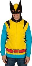 Wolverine Marvel Zip Up Mask Costume Hoodie Sweatshirt Mens Large Halloween $55