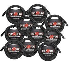 Pig Hog XLR 25 Foot 10 Pack Tour Grade Microphone Cables