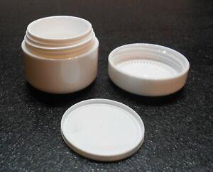 4 x 5 ml Cremedosen, Salbendosen mit Abdeckscheibe, weiß in Pharmaqualität