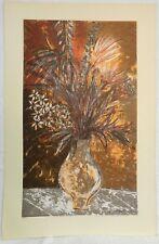 "Lovable Howard Bradford ""September Floral"" Numbered Ed.50 Serigraph, 26 x 40"