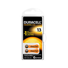 ★6 BATTERIE DURACELL EASY TAB 13 PR48 1.45 V SPECIALISTICHE ARANCIO DA13N6★