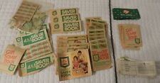 Lot of  Vintage S&H  Full Green Stamp Books Over 25,000 stamps