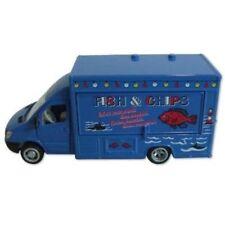 Modellini statici di auto , furgoni e camion scatola chiusi ghisa mercedes