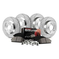 REAR Performance Cross Drilled Slotted Brake Disc Rotors TB34126