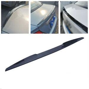3D Glossy Carbon Fiber Style Car Rear Trunk Roof Lip Wing Spoiler Sticker 99CM
