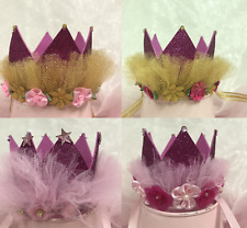 "Charmed Baby Princess Tiara Crown Baby Girls/ Kids Birthday Hat Sparkle 3""X 3.5"""