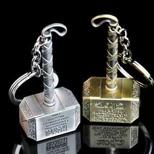 The Avengers Thor Thor's Hammer Metal Keyring Keychain Keyfob Gift New Colors
