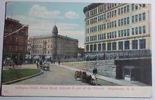 1908 Postcard Binghampton Ny Arlington Hotel Block Kilmers & Part Of Viaduct