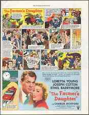 "Movie Poster ""The Farmer's Daughter"" Vintage Print Art Advert 10.5"" x 13.75"""