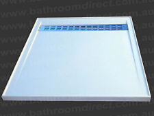 BDA Urban Stonelite Shower Base Stainless Steel Grate 1000 X 1000
