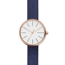 Skagen Signature Dark Navy Leather Watch SKW2592