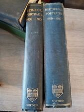 Two Books: HISTORICAL PORTRAITS 1400-1600 & 1600-1700 Very Rare with B&W Plates