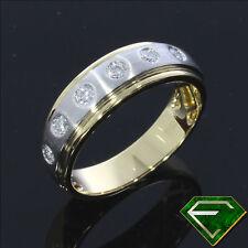 Reinheit SI Gute Echtschmuck-Ringe aus Gelbgold mit Brilliantschliff
