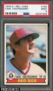 1979 O-Pee-Chee OPC #160 Carl Yastrzemski Boston Red Sox HOF PSA 9 MINT