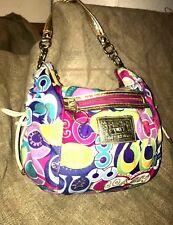 Coach Poppy Graffiti Series  Multi-color Hobo Purse Handbag